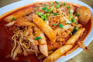 ソウルで食べたラッポッキの写真・画像素材[3733644]