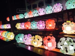 地元の街灯り 手作り蝋燭の写真・画像素材[1050327]