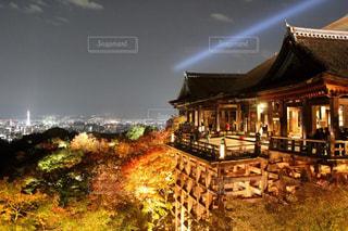 清水寺ライトアップの写真・画像素材[1050342]