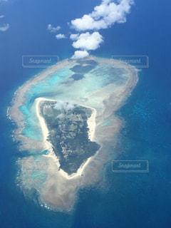 飛行機からのビーチの写真・画像素材[1051094]