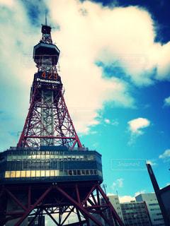 テレビ塔と青い空の写真・画像素材[1066602]