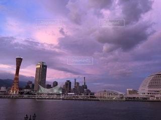 神戸 港の夕暮れの写真・画像素材[1451866]