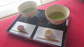 和菓子と抹茶の写真・画像素材[1050001]