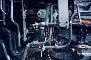 蒸気機関車のエンジンの写真・画像素材[1050907]