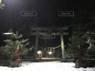 地元の神社の写真・画像素材[1086104]