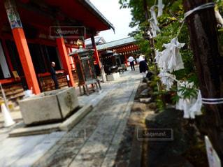 どこかわからない京都の神社の写真・画像素材[1051195]