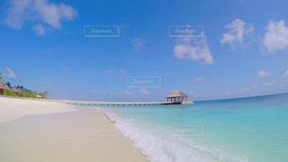 モルディブのビーチの写真・画像素材[1058387]