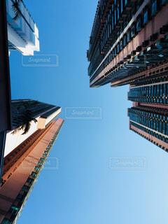香港のビルと空の写真・画像素材[1052143]