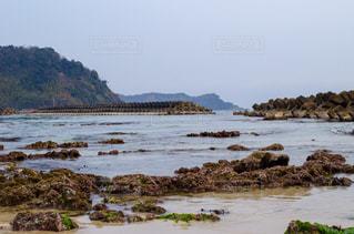 テトラポットと海の写真・画像素材[1053394]