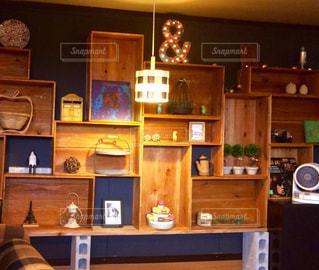 カフェにての写真・画像素材[1052831]