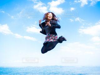 琵琶湖deジャンプ!の写真・画像素材[1055479]