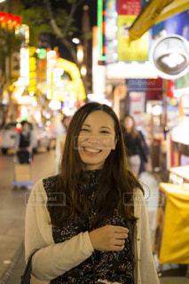 中華街観光中♪の写真・画像素材[1055836]
