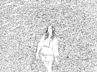 葉っぱに囲まれての写真・画像素材[1061805]