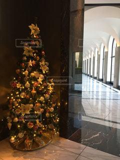 部屋のクリスマス ツリーの写真・画像素材[1054242]