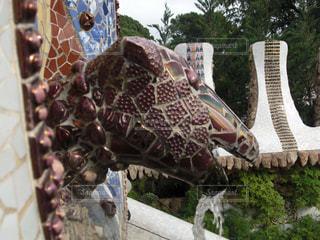 グエル公園のトカゲの写真・画像素材[1053785]