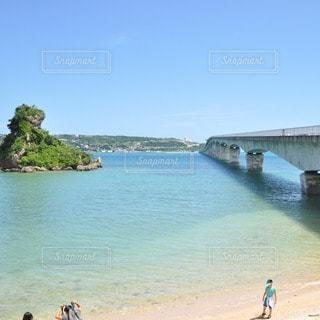 夏の古宇利大橋の写真・画像素材[34676]
