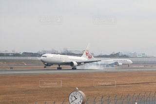 JALの着陸しーんの写真・画像素材[1199205]