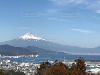 静岡側から見た富士山の写真・画像素材[1054049]