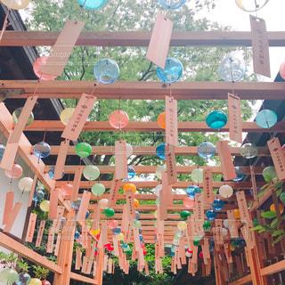 氷川神社の風鈴の写真・画像素材[1054603]