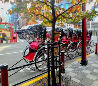 浅草寺 人力車の写真・画像素材[1055125]