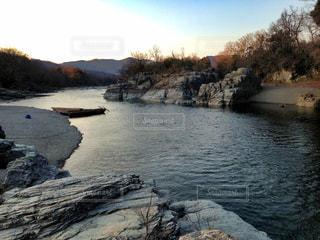 長瀞町の岩畳の写真・画像素材[1056214]