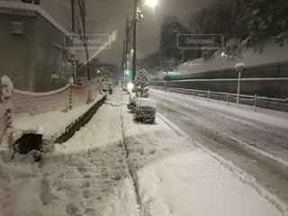 雪に覆われた道 - No.1057997