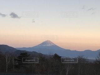 山梨から見た富士山の写真・画像素材[1058005]