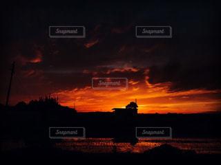 背景の夕日の写真・画像素材[1230515]