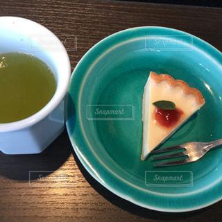 和風のランチのごちそう(その5)緑茶チーズケーキ - No.1076182