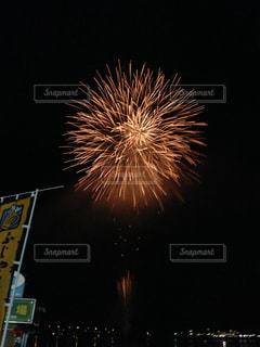 夜空の花火の写真・画像素材[1057864]