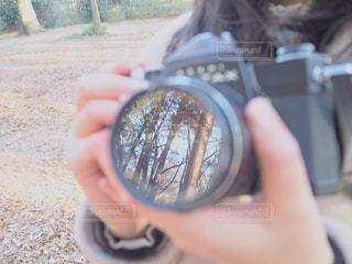 レンズに映し出された景色の写真・画像素材[1069541]