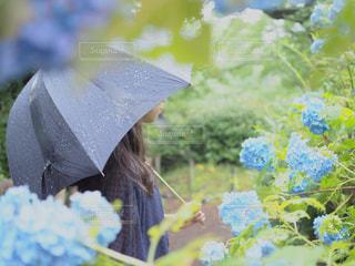 花を持っている人の写真・画像素材[1537882]