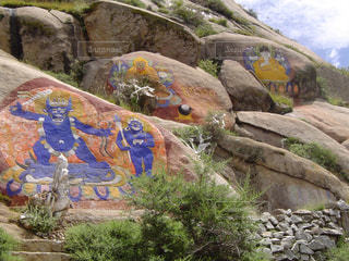 近くの岩のアップの写真・画像素材[1058615]