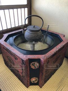 歴史を感じる火鉢の写真・画像素材[1583583]