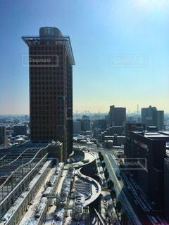 都市の雪景色の写真・画像素材[1060611]