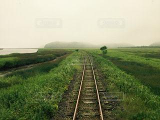 湿原の中を走る線路 - No.1073417
