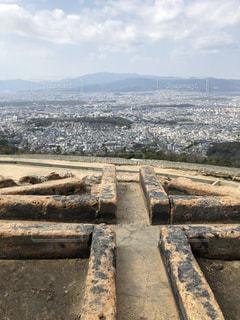 大文字焼き火床からの京都一望の写真・画像素材[1061113]