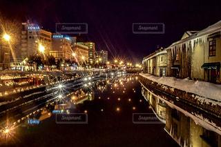 小樽運河の夜景 No.1の写真・画像素材[1134585]