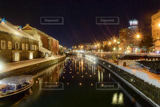 小樽運河の夜景 No.2の写真・画像素材[1134586]