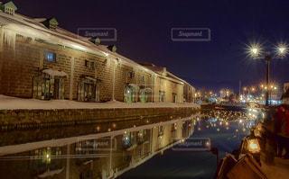 小樽運河の夜景 No.5の写真・画像素材[1134589]