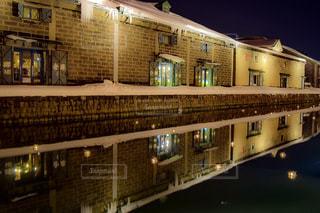 小樽運河の夜景 No.6の写真・画像素材[1134590]