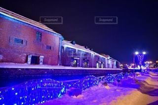 青の運河 小樽運河の夜景 No.1の写真・画像素材[1134603]