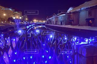 青の運河 小樽運河の夜景 No.2の写真・画像素材[1134605]