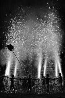 手筒花火の写真・画像素材[1064266]