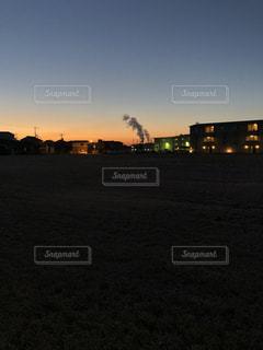 朝日によるグラデーションの写真・画像素材[1062085]