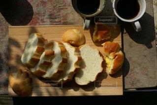 パンとコーヒー 俯瞰 - No.1074589
