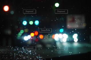 夜の車内の写真・画像素材[1084550]