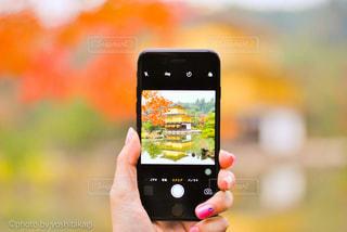 金閣寺とスマホの写真・画像素材[267971]