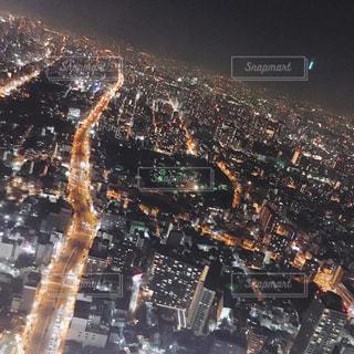 あべのハルカス展望台からの輝く街の写真・画像素材[1064459]