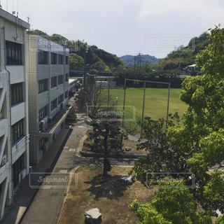 教室から見たグランドの写真・画像素材[1064581]
